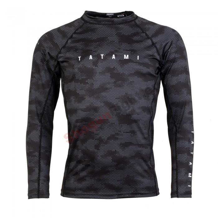 TATAMI Fightwear STANDARD EDITION Rashguard, Black digital camo