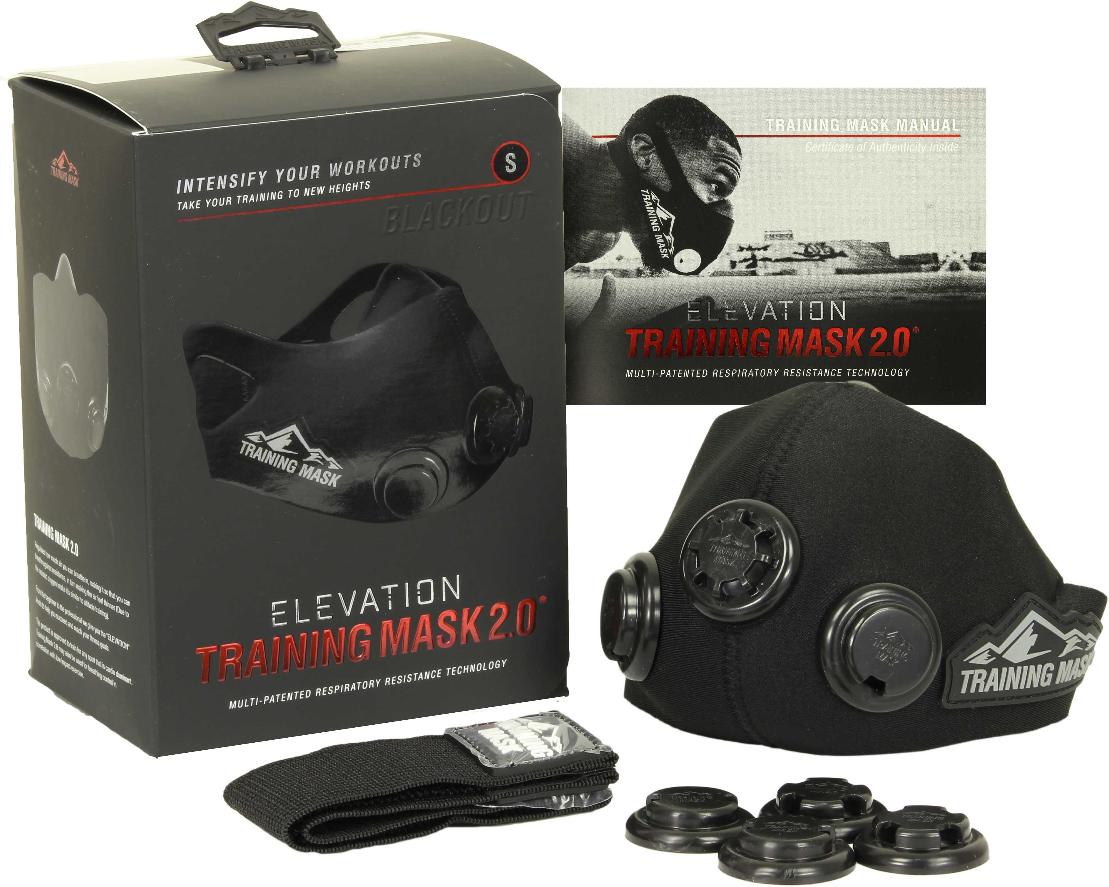 ELEVATION Training Mask 2.0 BlackOut Edition, Fekete