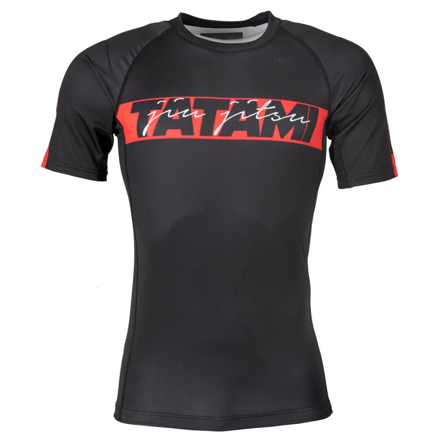 TATAMI Fightwear RED BAR Rashguard, rövid ujjú